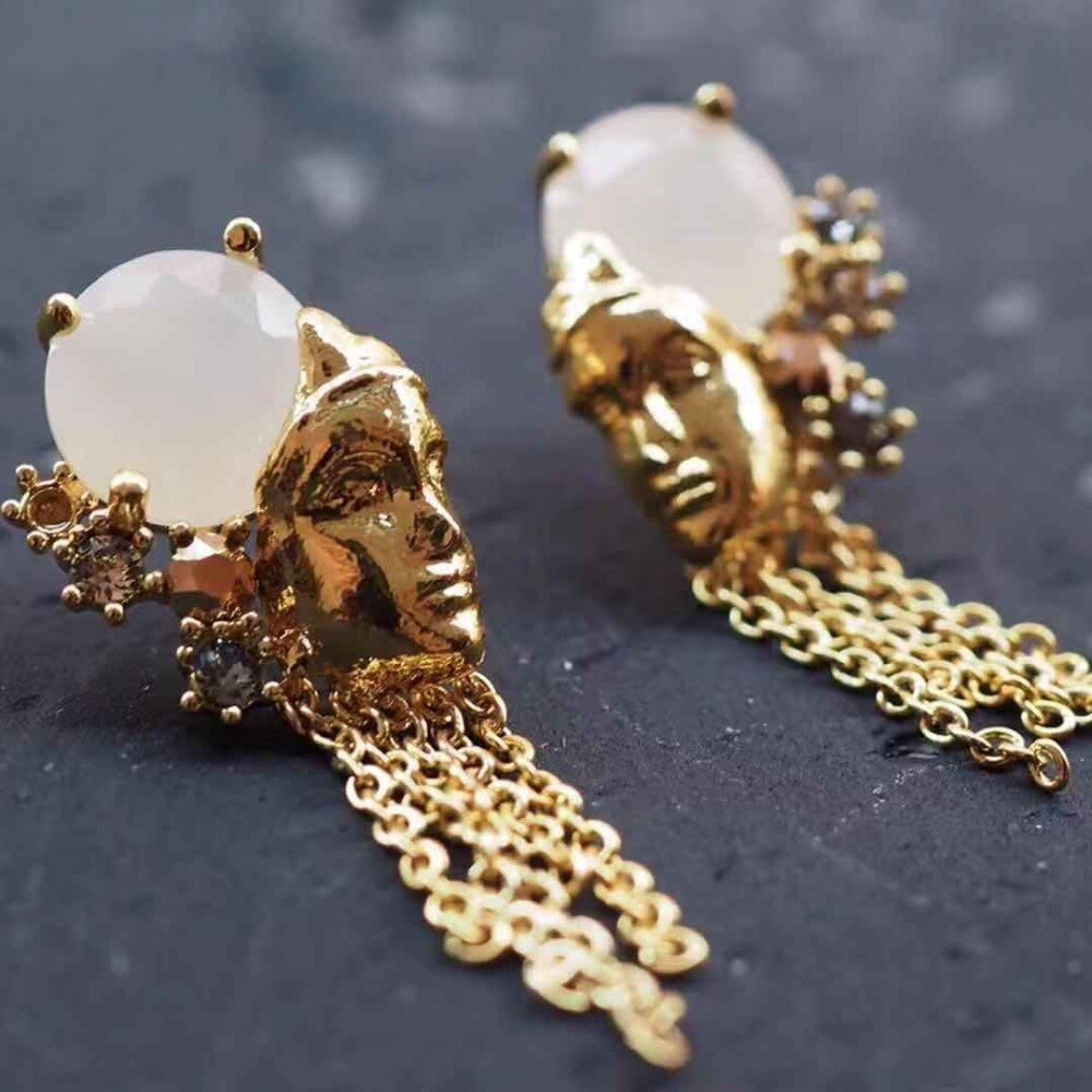 2019 Amybaby Handmade Designer Underwater Ancient City Statue Necklace Stud Earring Brooch Jewelry For Party