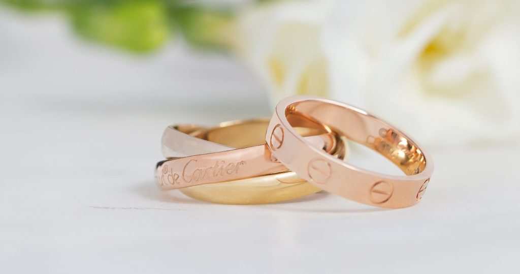Rose Gold Cartier Rings