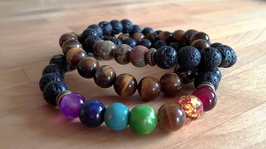 Bracelet Chakra Bangle Agate Jasper Jewelry Gemstone Beads Gems